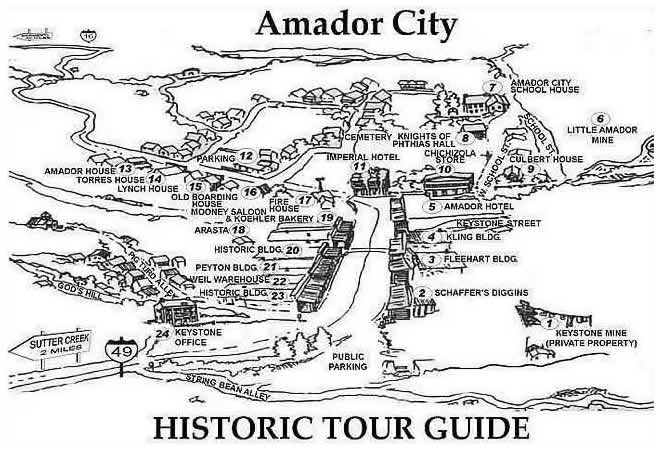 amador city walking tour map