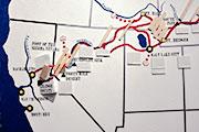 Map of Westward Trails